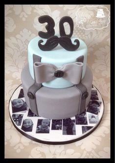 Moustache Cake - Cake by Kaye's Backroom Cakery