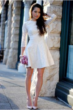 """Off White Bebe Dresses, Light Pink Boutique 9 Heels 
