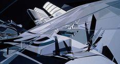 Imagen 18 de 34 de la galería de El proceso creativo de Zaha Hadid a través de sus pinturas. KMR Art and Media Centre - 1989/93. Image Cortesía de Zaha Hadid