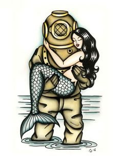 #diver #tattoo #mermaid #claudiahekart