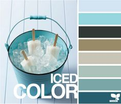 Exterior paint: turquoise with varying shades for accent with white and black (dark brown) trim Colour Pallette, Colour Schemes, Color Combos, Design Seeds, Colour Board, Aqua Color, Coordinating Colors, Color Theory, Exterior Paint