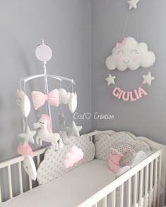 Image may contain: indoor Baby Girl Nursery Decor, Baby Bedroom, Baby Room Decor, Nursery Room, Kids Bedroom, Baby Furniture, Baby Cribs, Baby Sewing, Girl Room