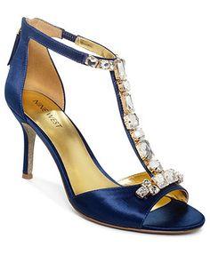 Rehearsal dinner shoes? Nine West Gunebug Evening Sandals,  blush, $100