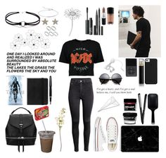 """""""nobody like you"""" by lu-fonsecaa ❤ liked on Polyvore featuring WALL, Fountain, Boohoo, Monica Vinader, Jennifer Meyer Jewelry, GHD, HUGO, MAC Cosmetics, NARS Cosmetics and Butter London"""