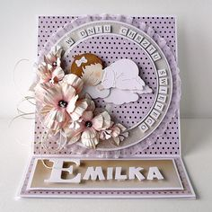 Dla maluszka / For baby Baby Cards, Cute Cards, Baby Sleep, Christening, Quilling, Cardmaking, Holiday Decor, Inspiration, Scrapbooking