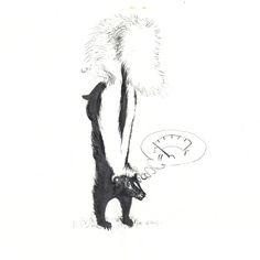 118 Best Skunk Drawings Images Skunk Drawing Skunks Animaux