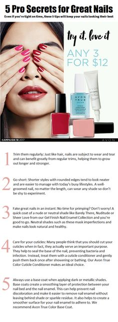 And… don't miss the Nail Event in our C18 Brochure to save big on a wide selection of shades and nail essentials. rosemarieclark.avonrep@gmail.com Serving Saint John N.B and surrounding areas. Saint John, Great Nails, You Nailed It, Avon, Essentials, Shades, Big, San Juan, Sunnies