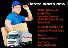 Aerolines - Freight Forwarders In Swiss For more details Log on to : www.aerolines.ch