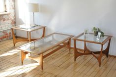 Mid Century, Sculpted Coffee and Side Tables by Lane.