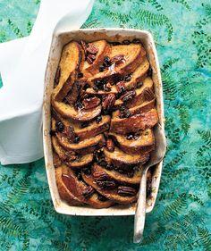 French Toast CasseroleFrench Toast Casserole   RealSimple.com 8 lg eggs 2c Non-fat Pl. Greek yogurt 1c 2%  milk  Sub. pecan raisin bead,  elimi. butter &  add'l sugar, add creme fraich w/ greek yogurt &  maple syru