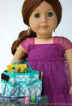 Make a duct tape craft bag for dolls
