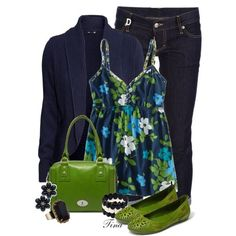 Love this green with navy!