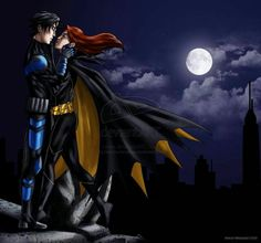 Nightwing and Batgirl. Dick and Babs. Forever and always. Because I'm a pathetic, die-hard DickBabs shipper. Always have been, always will be.