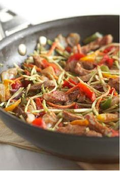 Rush Hour Pork Stir-Fry – A low-cal, low-fat dish that's full of flavor and veggies, and can be ready in less than 25 minutes.