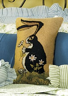 Bunny with Floppy Ears Pillow from Williamsburg House WI, www.williamsburghousefurnishings.com