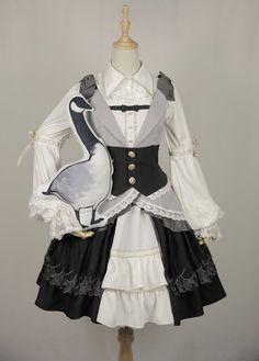 Lees Theater Lolita -Migration Before Dawn- Lolita Jumper Dress