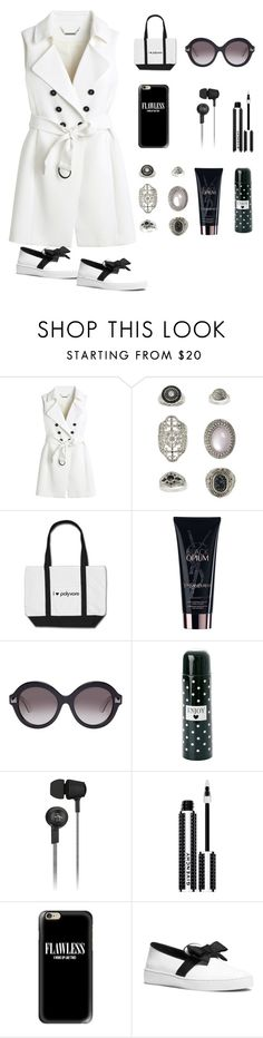 """b/w"" by im-karla-with-a-k ❤ liked on Polyvore featuring White House Black Market, Topshop, Yves Saint Laurent, Valentino, Original Penguin, Givenchy, Casetify and Michael Kors"