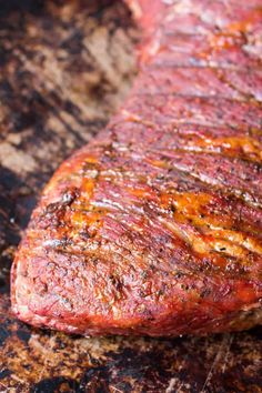 """Our Traeger smoked tri-tip is tender, juicy, and a great """"quick"""" barbecue meal. This one is done in under two hours, which is lightning-fast in barbecue land. Tri Tip Steak Recipes, Traeger Recipes, Smoked Meat Recipes, Grilled Steak Recipes, Barbecue Recipes, Grilling Recipes, Beef Recipes, Smoked Tri Tip, Bonito"""