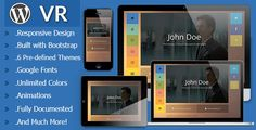 VR - Responsive vCard WordPress Theme by Maxdp  VR is a Responsive vCard Theme which can be used as your personal and/or business website and portfolio. Designed fully responsi