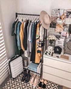 42 super Ideas for diy dco chambre dressing Ikea Closet, Closet Bedroom, Closet Storage, Bedroom Storage, Dorm Storage, Ikea Storage, Apartment Decoration, Decoration Bedroom, Ikea Dorm