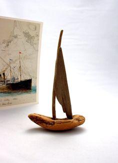 Boat / Barco #1 (Driftwood Art)