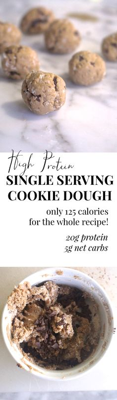 I make this EVERY DAY. It's a giant bowl of cookie dough for only 125 calories and it packs 20 grams of protein!! I'm officially in love.