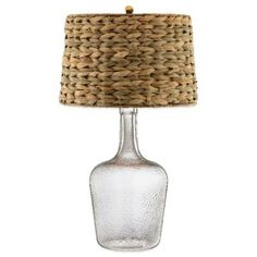 Stein World Glass Bottle Accent Table Lamp with Seagrass Shade - BedBathandBeyond.com