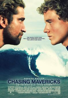 Chasing mavericks - Gerard Butler and Jonny Weston. It was an outstanding film! Waves are so magnificent, took my breath away. Really good movie. I love surfing so this is a god movie. Jonny Weston, Jay Moriarity, Persiguiendo Mavericks, Movies Showing, Movies And Tv Shows, Elisabeth Shue, About Time Movie, Film Serie, Great Movies