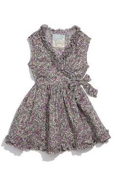 Floral wrap dress. - I just got these and they're so much cuter in person. *