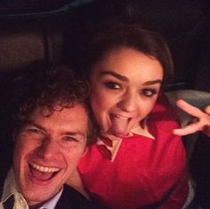Maisie Williams and Finn Jones of Game of Thrones enjoyed their limo time: | 29 Celebrity Instagrams From The Golden Globes That You Need To See
