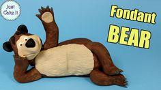 Fondant BEAR cake topper from Masha And The Bear tutorial