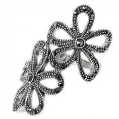 marcasite flower ring