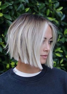 Gorgeous Soft Blunt Bob Haircuts for Women in 2019 for short hair bo. - Gorgeous Soft Blunt Bob Haircuts for Women in 2019 for short hair bob Gorgeous Soft Blu - Blunt Bob Haircuts, Bob Haircuts For Women, Short Hair Cuts For Women, Short Hair Styles, Stacked Bob Haircuts, Short Hair Colour, Styling Short Hair Bob, Short Hair Side Part, Thick Haircuts