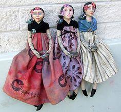 Artist Linda Misa - Love these girls.  So pretty.