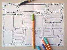 bujo blank boxes bullet journal template printable planner