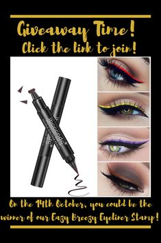 Welcome to the eyeliner hack of the century! We're giving away our amazing time-saving winged eyeliner stamp. You can do sexy cat eyes Eazy Breezy! To join the giveaway follow the link! Makeup Product Giveaway | Makeup Giveaway | Makeup Accessories Giveaway | Makeup Giveaway Ideas | Makeup Giveaway 2019 | Makeup Giveaway Products #makeupgiveaway #makeupproductgiveaway #makeup #giveaway #beauty Winged Eyeliner Stamp, Eye Liner Tricks, Art Of Beauty, Time Saving, Cat Eyes, Best Makeup Products, Giveaways, Makeup Looks, Join