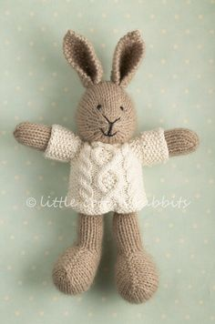 Cute little bunny with a winter sweater