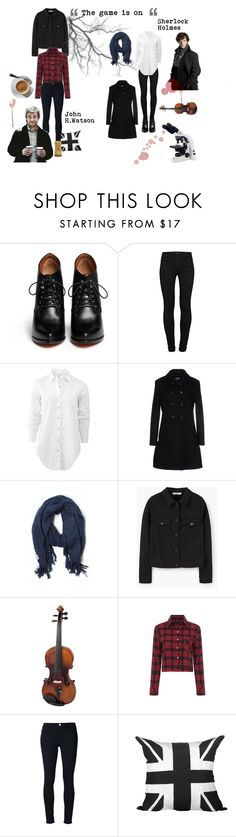 """Sherlock holmes the game is on"" by teenwolfstilinski on Polyvore featuring Givenchy, J Brand, rag & bone, Moschino Cheap & Chic, Lou Lou, MANGO, LE'VAR, Frame Denim, Dot & Bo en Timberland"