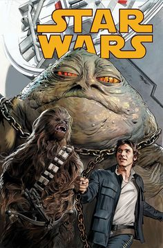 Han & Chewie go back to smuggling… for a Hutt?! Issue 35 of Marvel's Star Wars is on sale today. Covers by Mike Mayhew and Amy Reeder.