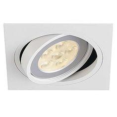 Podtynkowa LAMPA sufitowa NEW TRIA QRB111 1 SQUARE 113531 Spotline biały