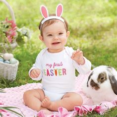 My First Easter Crawler Shirt & Bunny Ears