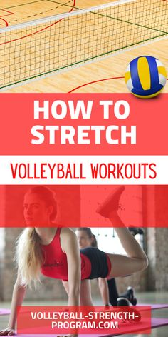 Volleyball stretches are important for preventing injury and improving performance. Dynamic means you are stretching while moving. For example, a lunge is a dynamic stretch. Static stretches are when you hold a position for a long time. Dynamic stretches turn on muscles while static stretches turn them off. Discover the best volleyball stretches. #volleyball #volleyballstretches #volleyballworkout #volleyballtraining #volleyballdrills #volleyballcoach Volleyball Skills, Volleyball Training, Volleyball Workouts, Volleyball Mom, Coaching Volleyball, Volleyball Drills For Beginners, Strength Program, Speed Training, Injury Prevention