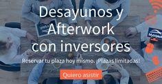 #Desayunos y #Afterwork con inversores. Hablamos sobre inversión alternativa. Haz clic en la imagen para saber más