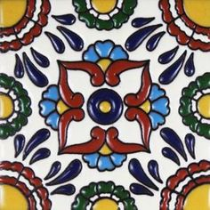 Infuse the spirit of old Mexico into your home with these beautifully handcrafted Talavera Relief tiles! An eye-catching and highly-textured addition to kitchens and baths, Talavera Relief tiles are also perfect for covering the risers on a staircase or the walls of a patio. Left-over tiles make excellent coasters and trivets.  Hand made in Mexico.