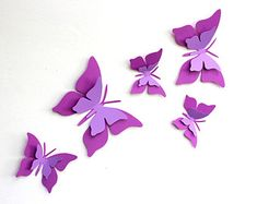 3D Butterfly Wall Art Purple Ombre Alphabet by TheCoralCanopy