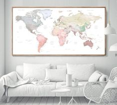World Map Poster world map wall art Framed World Map, World Map Wall Art, World Map Poster, Framed Maps, Wall Maps, Frames On Wall, Framed Wall Art, Hogwarts Poster, Map Projects