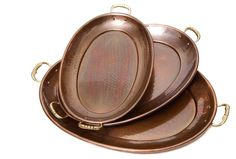 Asst. of 3 Antiqued Copper Trays Now: $108.00 							  							Was: $135.00