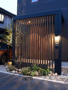 Entrance Gates, House Entrance, Small House Interior Design, House Design, House Front, My House, Japanese Style House, Mid Century Ranch, Front Entrances