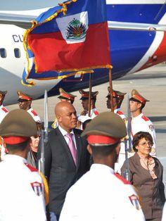 Michel Joseph Martelly, Presidente de la República de Haití, a su llegada al Aeropuerto Internacional José Martí, en La Habana, Cuba, el 26 de enero de 2014, para participar en la II Cumbre de la Comunidad de Estados Latinoamericanos y Caribeños (CELAC). AIN FOTO/Marcelino VÁZQUEZ HERNÁNDEZ