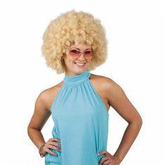 Super Pruik Afro Blond